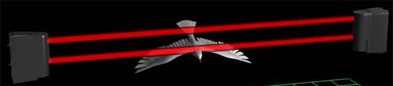 barriere antifurto raggi infrarossi